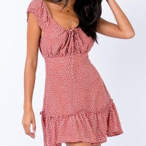 Princess Polly  The Coopers Mini Dress in Blush